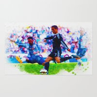 ronaldo Area & Throw Rugs featuring The Buzz from Cristiano Ronaldo by Don Kuing