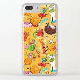 Tropical Hawaiian Cocktails Clear iPhone Case