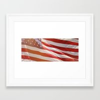 american flag Framed Art Prints featuring American Flag by Ken Gehring