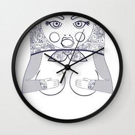 Blueprint X Matryoshka / Nesting Doll Wall Clock