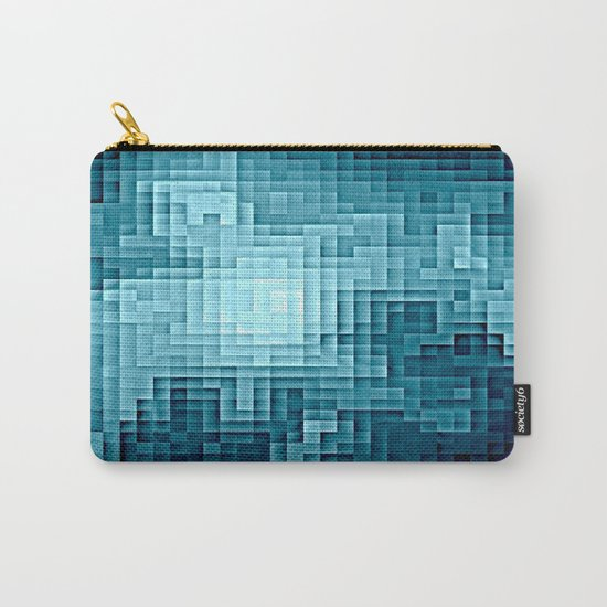 Nebula Pixels Steel Teal Blue Carry-All Pouch