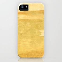 Sandy brown abstract wash painting iPhone Case