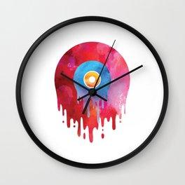 Melting Vinyl Record T Shirt Oldschool Music Graphic DJ Wall Clock