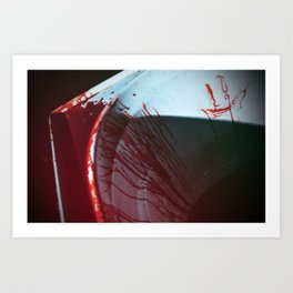 Blood bath Art Print