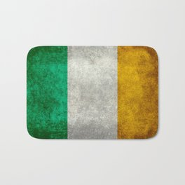 Republic of Ireland Flag, Vintage grungy Bath Mat