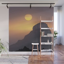 Watercolor Sunset, Heimaey 03, Iceland Wall Mural