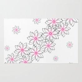 Cute floral pattern. Rug