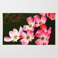 faith Area & Throw Rugs featuring faith by Shea33