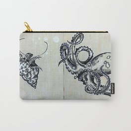 Blue Ringed Octopus and Crab Carry-All Pouch