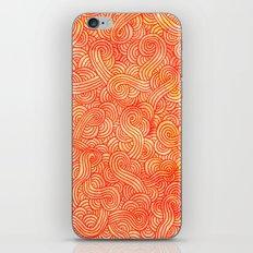 Red and orange swirls doodles iPhone Skin