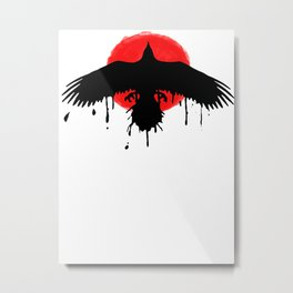 Chloe Price Black/Red Raven - Life Is Strange Before The Storm Metal Print