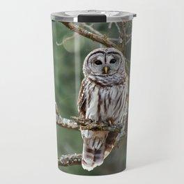 Barred Hoot Owl Travel Mug