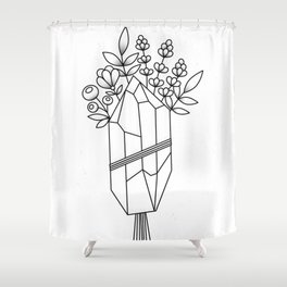 Crystal Flower Bouquet Shower Curtain