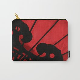 Red and Black Abstract Chinese Lantern Photograph Art Print Carry-All Pouch