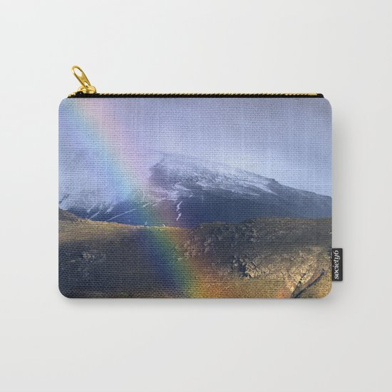 """""""Rainbow through the snow mountains"""". Into the storm. Carry-All Pouch"""
