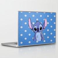 lilo and stitch Laptop & iPad Skins featuring Lilo and Stitch - Stitch by Julia Kolos