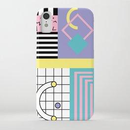 Memphis Pattern 27 - 80s - 90s Retro / 1st year anniversary design iPhone Case