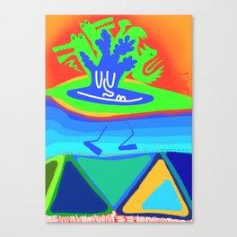 An Island Chillin Canvas Print
