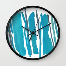 2  |  190408 Blue Abstract Watercolour Wall Clock