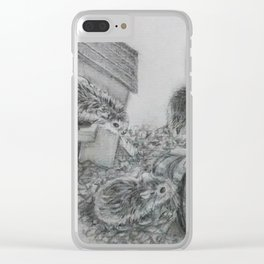 Hamster Family Clear iPhone Case