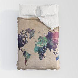 Cold World Map #map #worldmap Comforters