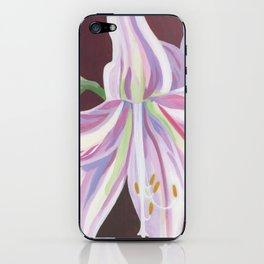 Pink amaryllis iPhone Skin