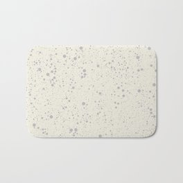 Chaotic circles pattern. Cream. Bath Mat