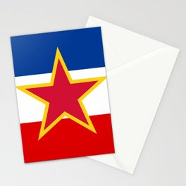Yugoslavia National Flag Stationery Cards
