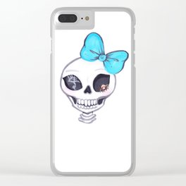 Shelly Skelly Clear iPhone Case