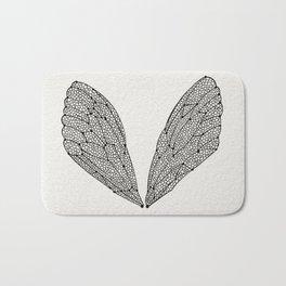 Black Cicada Wings Bath Mat
