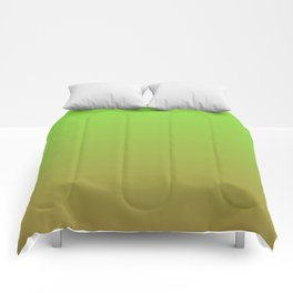 Color gradient 4. Green and brown.abstraction,abstract,minimalism,plain,ombré Comforters