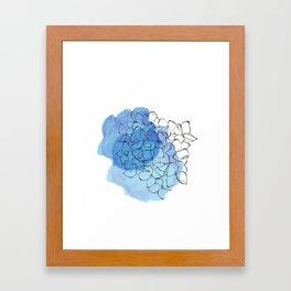 hydrangea Framed Art Print