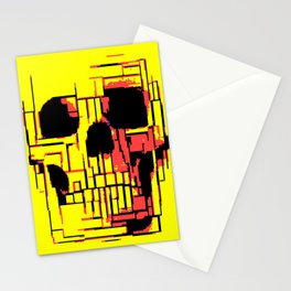 Pixelated Skull Stationery Cards