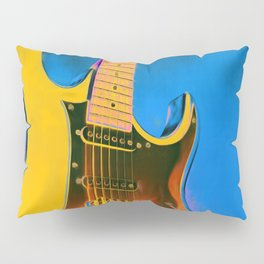 Guitar Painting, Pop Art Rock and Roll Pillow Sham