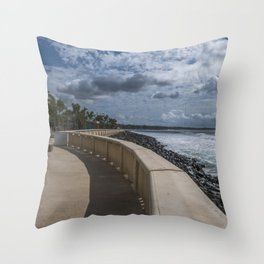 Aguadilla ocean view Throw Pillow