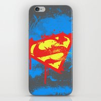 superheros iPhone & iPod Skins featuring Super S by Sophie Rousseau