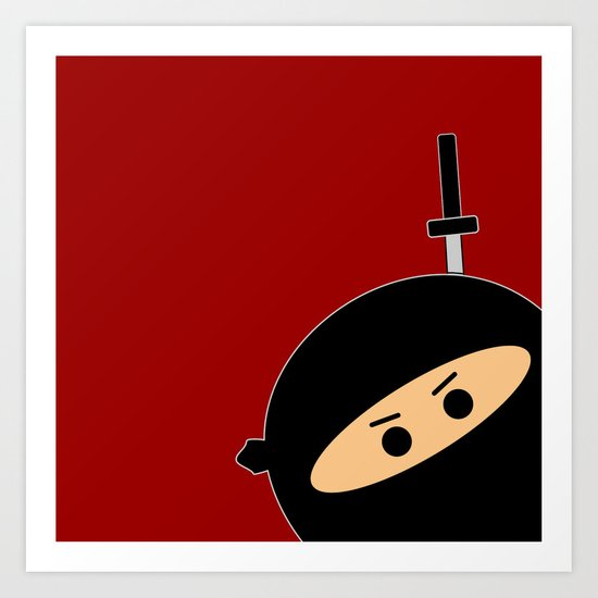 Ninja at Sunset Art Print