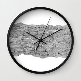 get lost in the wave Wall Clock
