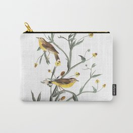 Yellow red pol warbler, Birds of America, Audubon Plate 145 Carry-All Pouch