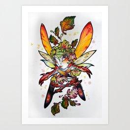 Chrysantheme Fairy Art Print