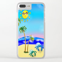 Beach Party for the Baby Crabs Clear iPhone Case