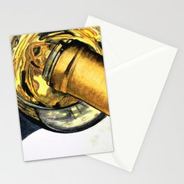 White Wine Art - Lap Of Luxury - By Sharon Cummings Stationery Cards
