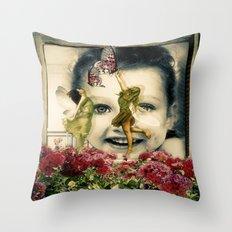 Fairies At The Window Throw Pillow