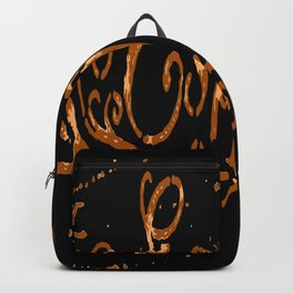 Espresso Coffee Artistic Typography Backpack