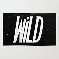 into the wild Area & Throw Rugs featuring Wild by Josh LaFayette