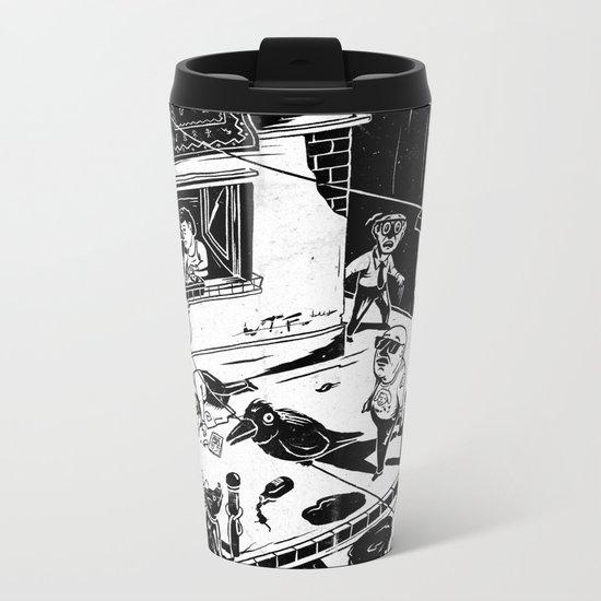 Pipien Molestus in the city Metal Travel Mug