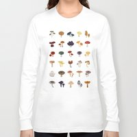 mushrooms Long Sleeve T-shirts featuring MUSHROOMS by saimi t
