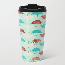 Umbrellas Metal Travel Mug