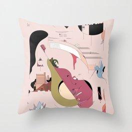 Avocado City Symphony Throw Pillow