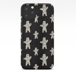 Polar Bear in Winter Snow on Black - Wild Animals - Mix & Match with Simplicity of Life iPhone Case